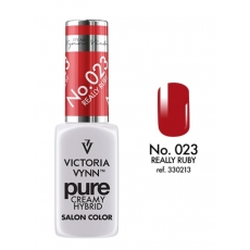 VICTORIA VYNN LAKIER HYBRYDOWY PURE CREAMY 023 Really Ruby 8ml