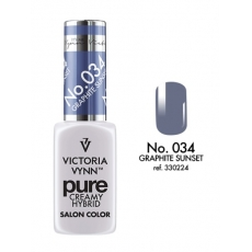VICTORIA VYNN LAKIER HYBRYDOWY PURE CREAMY 034 Graphite Sunset 8ml